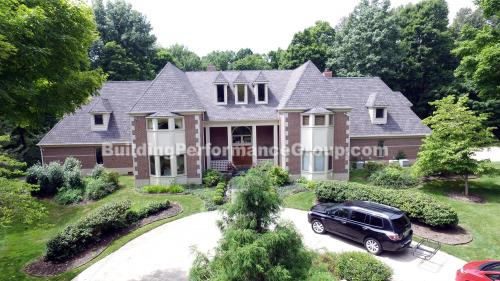 Aerial photo of luxury real estate listing