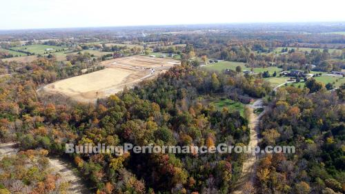 Aerial photo of residential neighborhood under development