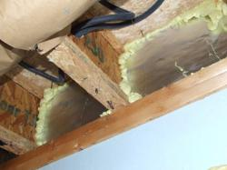 Example of a well-sealed rim joist